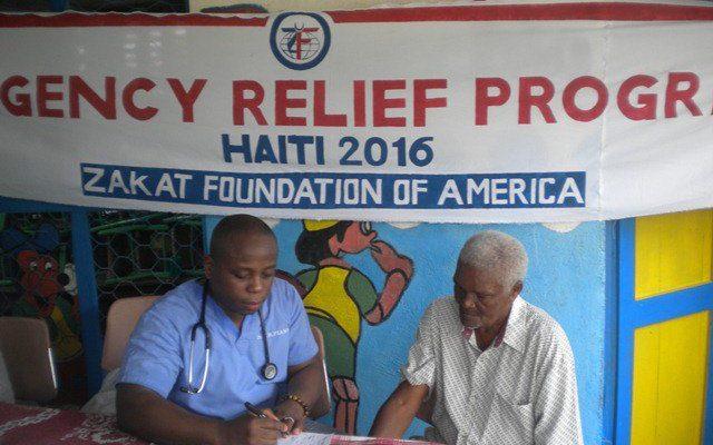 مؤسسة الزكاة الأميركية توزيع الأدوية والعلاج للمتضررين من إعصار هايتي