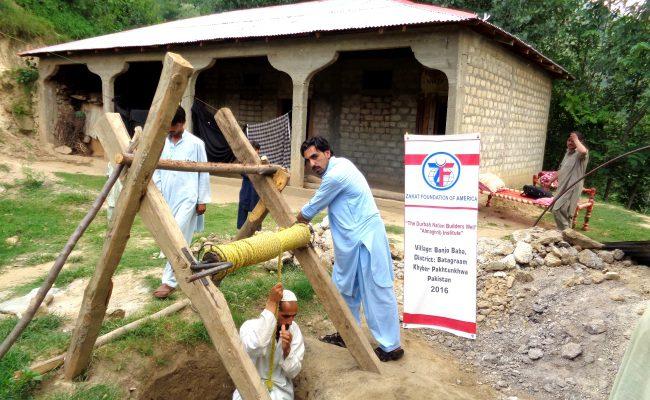 آبار المياه الجديدة التي تم إنشائها في الجزء الشمالي من باكستان