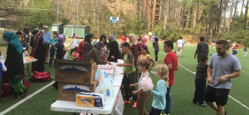 يوم رياضي لعائلات اللاجئين السوريين في ولاية كارولينا الشمالية