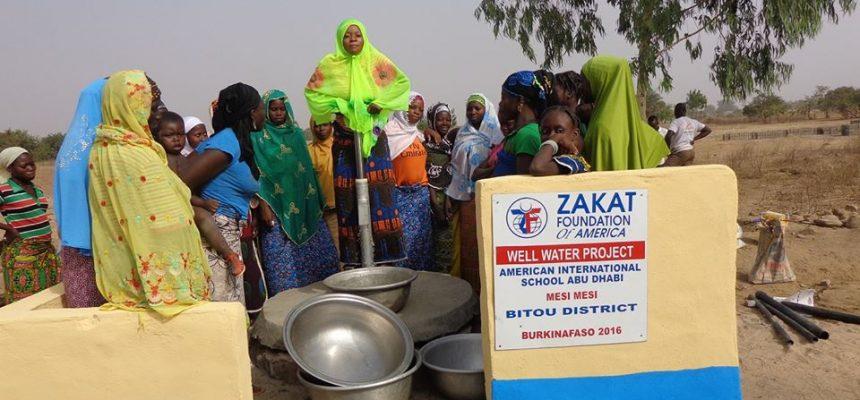 الزكاة تنشأ ابار للمياة النظيفة في بوركينا فاسو