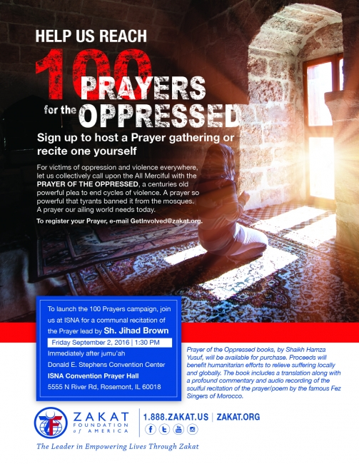 Join the Prayer of the Oppressed at ISNA 53