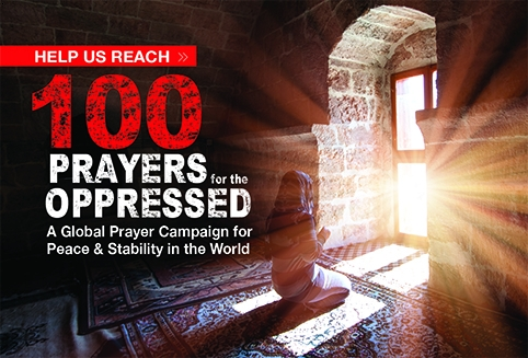 Help Us Reach 100 Prayers for the Oppressed
