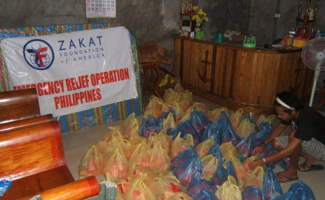 food bags from zakat