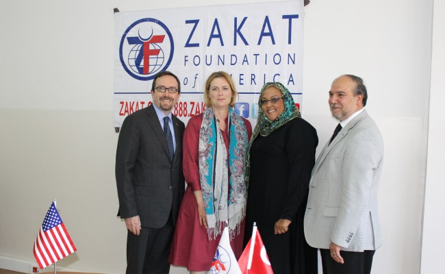Pictured (left to right): U. S. Ambassador to Turkey John R. Bass, U.S. diplomat Holly Holzer Bass, ZF Medical Programs Advisor Donna Neil-Demir, and ZF Executive Director Halil Demir.