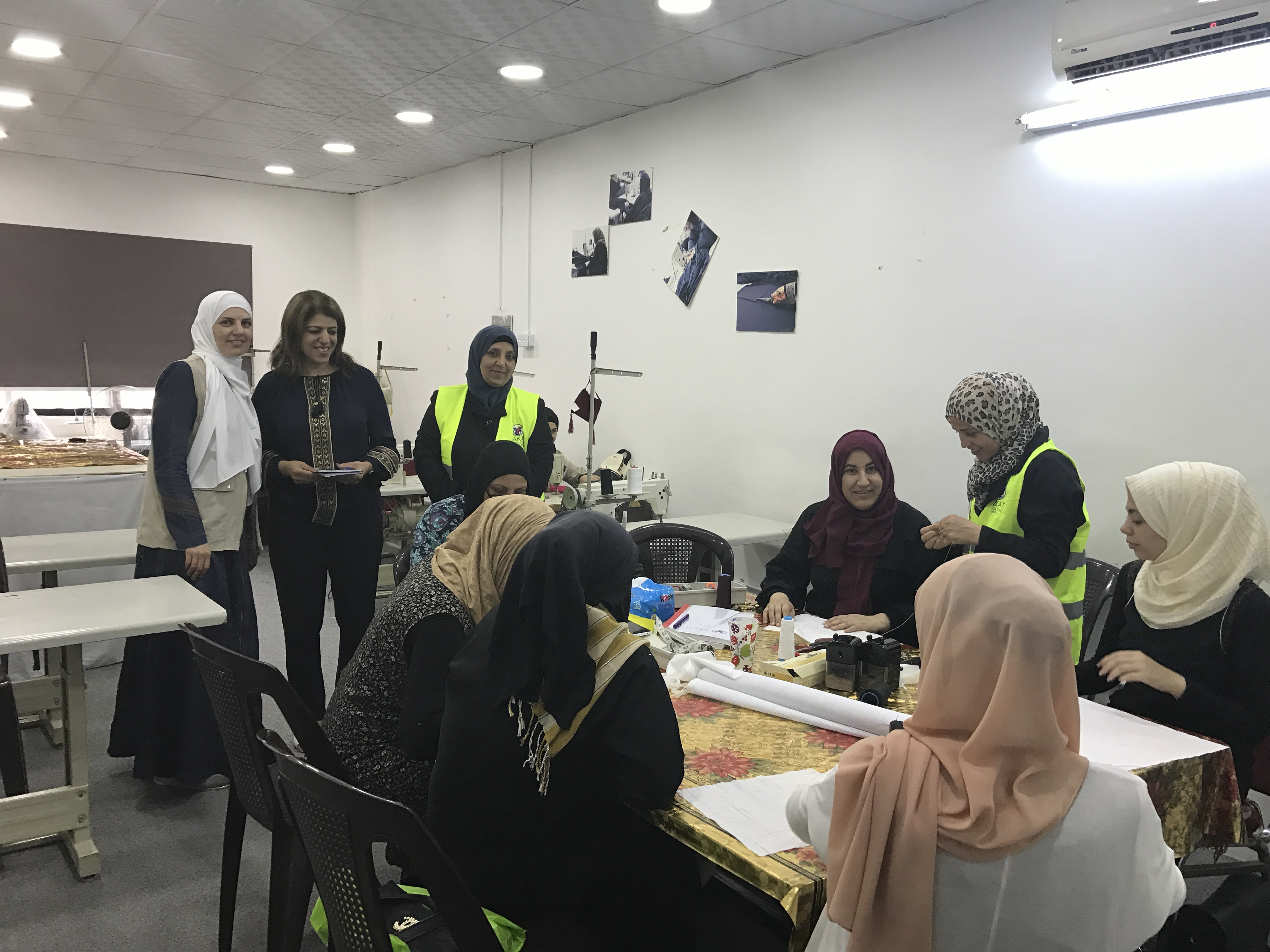 The VTC Assists Many Syrian Refugee Women Resettling In Jordan By Offering Courses Sewing Knitting English And Computer Science