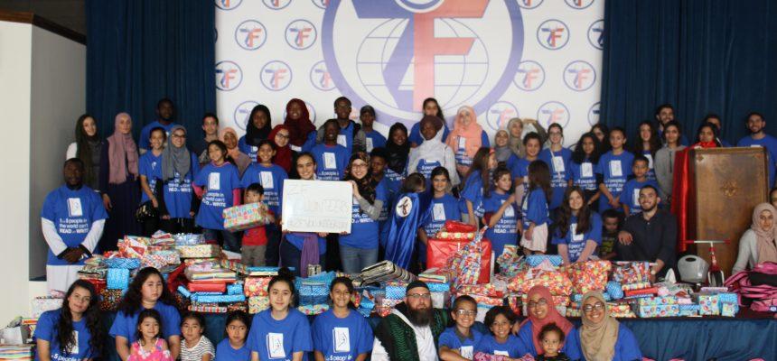 Youth Volunteers Prepare Backpacks and Eid Toys