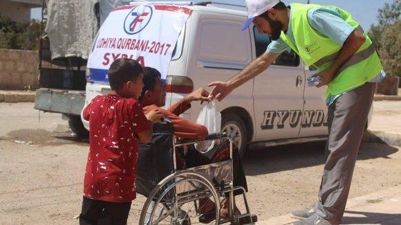 توزيع الأضاحي في سوريا