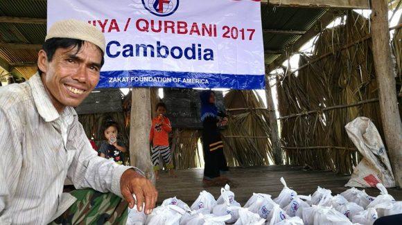 توزيع الأضاحي في كمبوديا