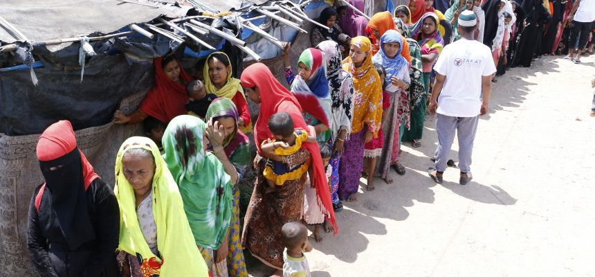 توزيع الأضاحي على اللاجئين الروهينغا في الهند