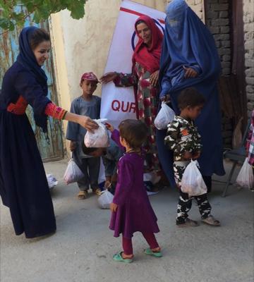 توزيع الأضاحي في أفغانستان