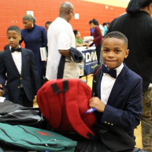 ZF Distributes Backpacks During Muhammad University of Islam's Parent Night