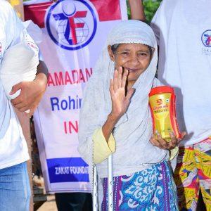 المساعدات الغذائية للاجئين الروهينغا في الهند :رمضان 2107