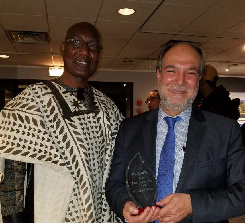 تكريم السيد دمير بجائزة(Lincoln Anti-Slavery Award)