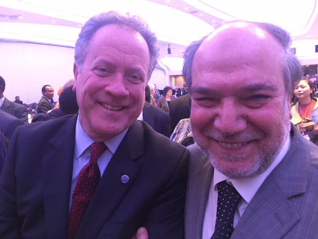 ZF Director Halil Demir with Governor David Beasley at National Prayer Breakfast