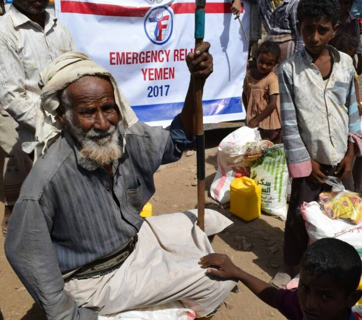 Yemeni man faces famine