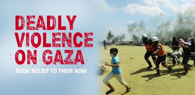 Violence on Gaza web banner