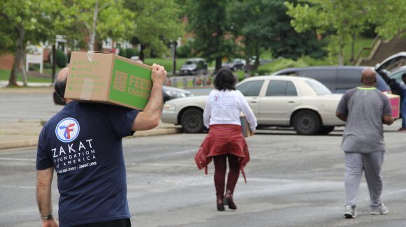 Zakat Foundation of America and Feed the Children to Feed Washington D.C. Families