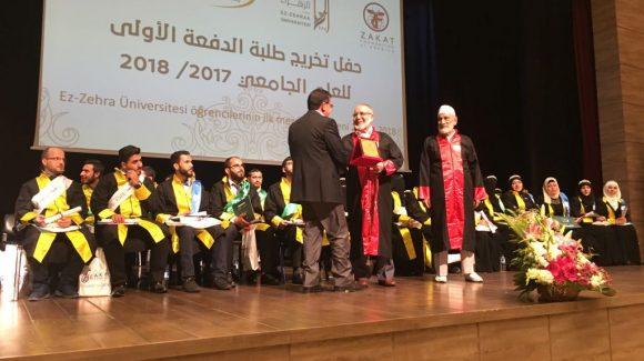 الزكاة ترعى أول فوج جامعي من اللاجئين السوريين