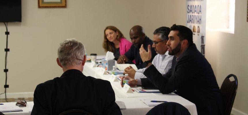 اجتمع أعضاء من تحالف InterAction في مقر الزكاة