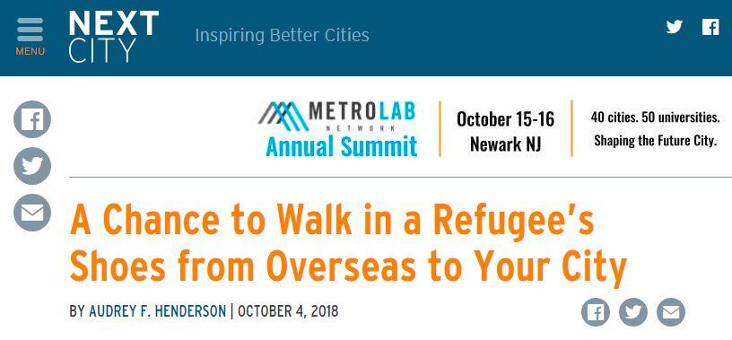 فرصة لتضع نفسك مكان اللاجئين القادمين من الخارج إلى مدينتك
