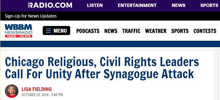 المدير التنفيذي للزكاة ينضم لقادة الأديان لإدانة الهجوم على الكنيس