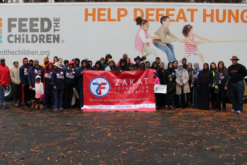 مؤسسة الزكاة و (Feed the Children) يتحدان لإطعام مدينة درهام