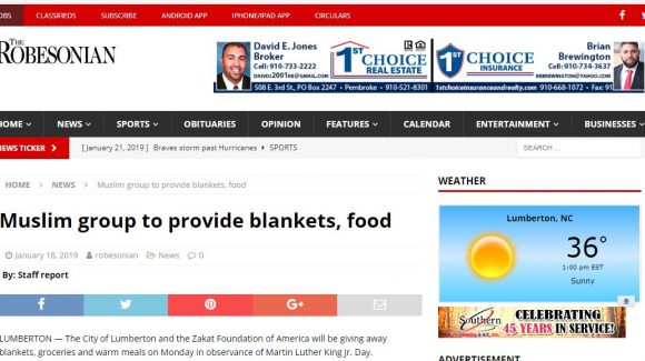Muslim group to provide blankets, food