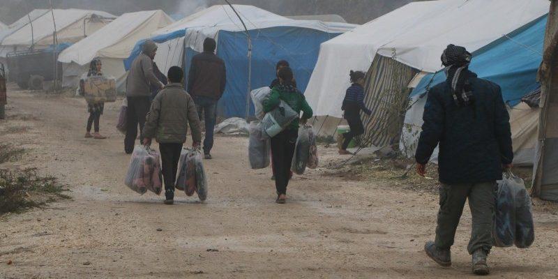 المساعدات تصل إلى مخيمات اللاجئين في شمال سوريا