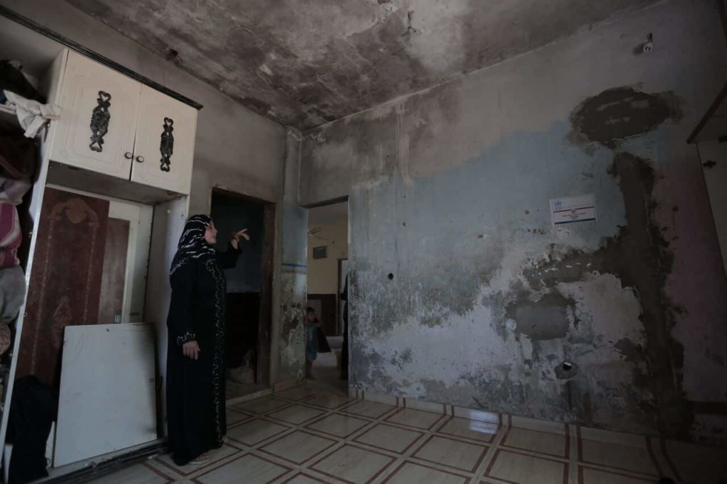 Hijazi family, before home repairs