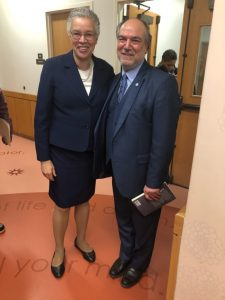 Halil Demir pictured with Cook County Board President Toni Preckwinkle