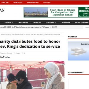 Islamic charity distributes food to honor the late Rev. King's dedication to service