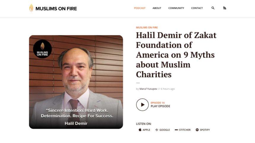 """السيد دمير يتحدث مع إذاعة"""" Muslim On Fire"""" عن كتابه الأوهام التسع حول المؤسسات الخيرية الإسلامية"""