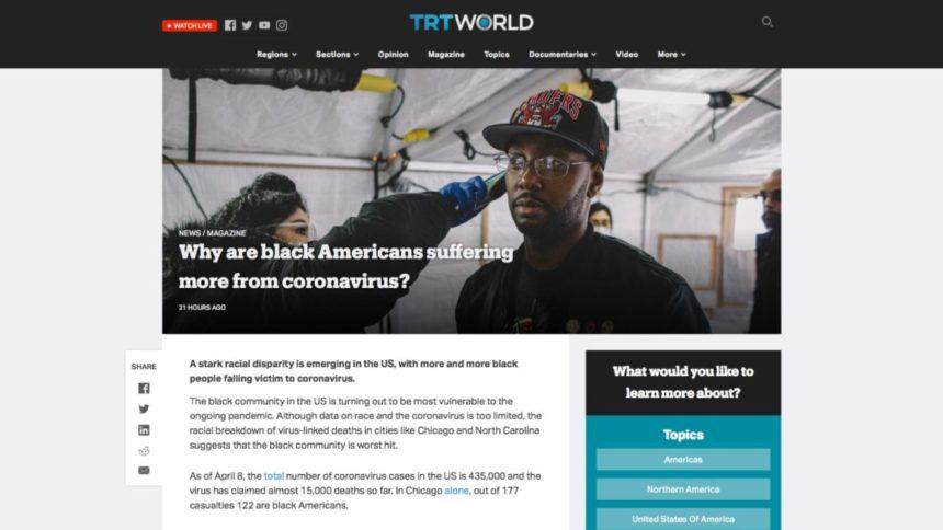 لماذا يعاني الأمريكيون السود أكثر من فيروس كورونا؟