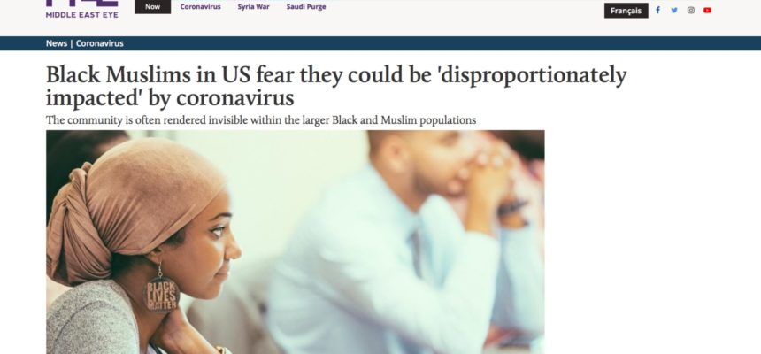 Black Muslims in US fear they could be 'disproportionately impacted' by coronavirus