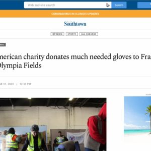 Muslim-American charity donates much needed gloves to Franciscan Health in Olympia Fields