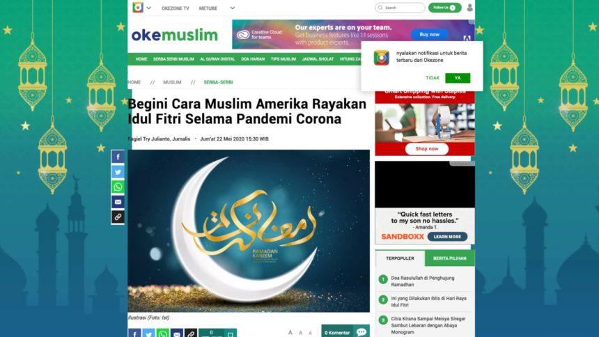 إبداع المسلم الأمريكي في الاحتفال بعيد الفطر