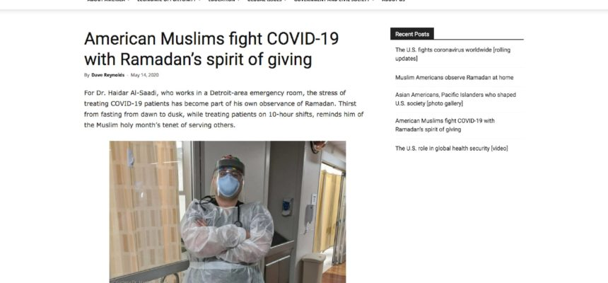 American Muslims fight COVID-19 with Ramadan's spirit of giving