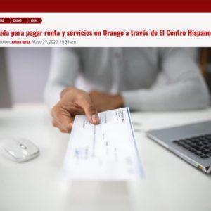 Ayuda para pagar renta y servicios en Orange a través de El Centro Hispano