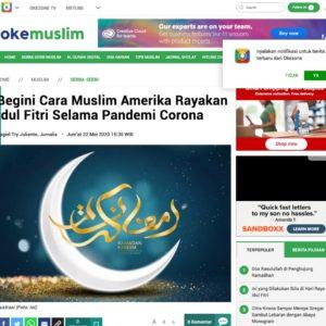 Begini Cara Muslim Amerika Rayakan Idul Fitri Selama Pandemi Corona