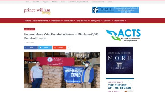 House of Mercy, Zakat Foundation Partner to Distribute 40,000 Pounds of Potatoes