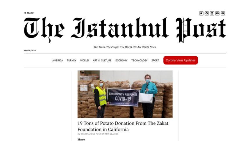 مؤسسة الزكاة تتبرع بـ 19 طن من البطاطا في كاليفورنيا