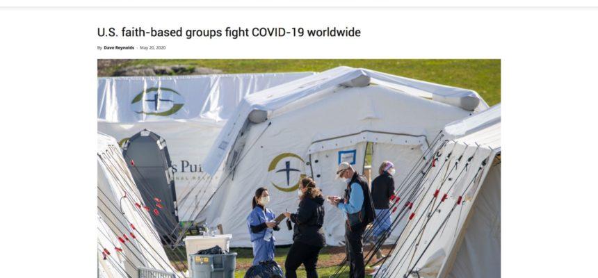 U.S. faith-based groups fight COVID-19 worldwide