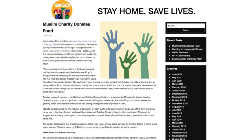 مؤسسة خيرية إسلامية تتبرع بالطعام