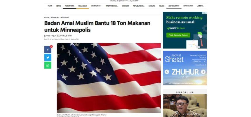 Badan Amal Muslim Bantu 18 Ton Makanan untuk Minneapolis