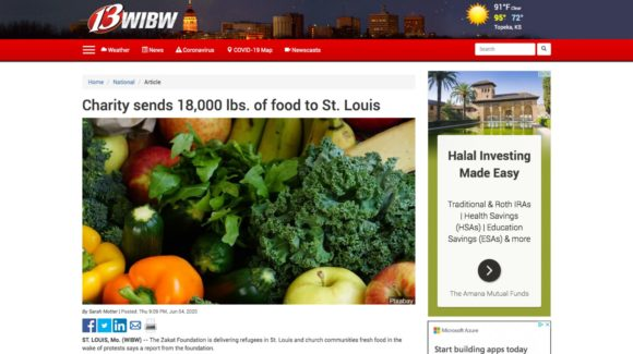 Charity sends 18,000 lbs. of food to St. Louis