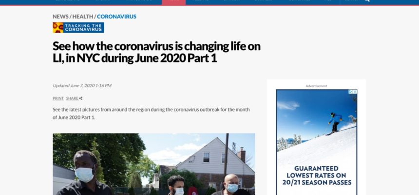 See how the coronavirus is changing life on LI, in NYC during June 2020 Part 1