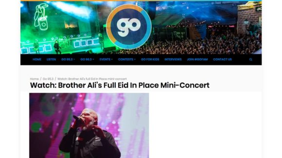 Watch: Brother Ali's Full Eid In Place Mini-Concert