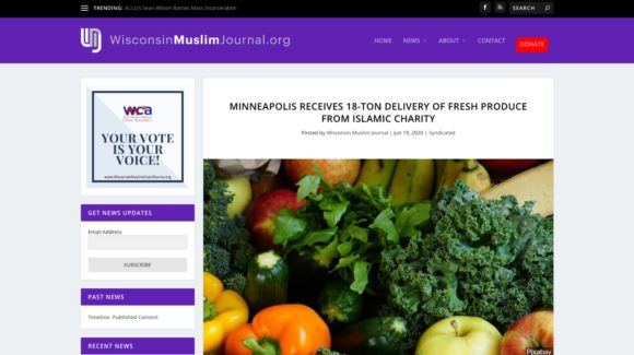 Minneapolis receives 18-ton delivery of fresh produce from Islamic charity