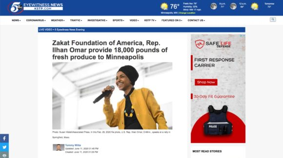 Zakat Foundation of America, Rep. Ilhan Omar provide 18,000 pounds of fresh produce to Minneapolis