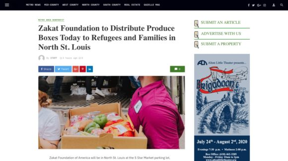 Zakat Foundation to Distribute Produce Boxes Today to Refugees and Families in North St. Louis